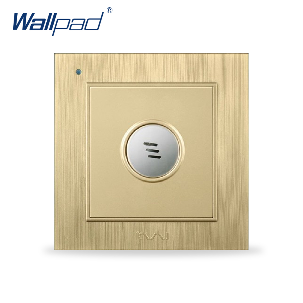 Sound and Light Sensor Switch Wallpad Luxury Wall Light Switch Gold Color Delay Time: 45s high quality sound and light control switch delay 60s sensor switch 220v ac 50hz 60w 25w 5w 95db 75db free shipping
