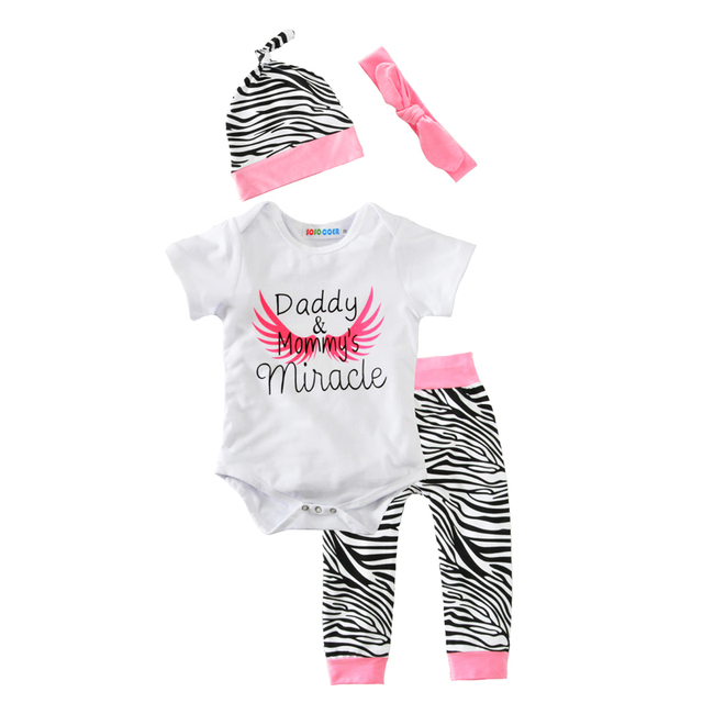 Moonlight Summer Newborn Baby Girls Clothing Set Outfits Angel Wing