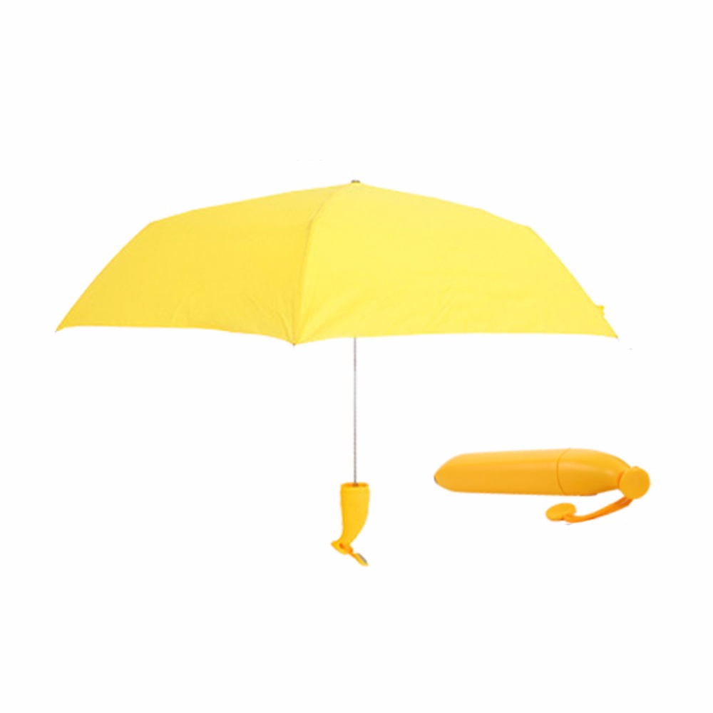 d8f1f7409120 US $9.77 19% OFF|Beauty Women UV Protection Sun Rain Umbrella Novelty  Folding Yellow Banana Umbrella BS-in Umbrellas from Home & Garden on ...