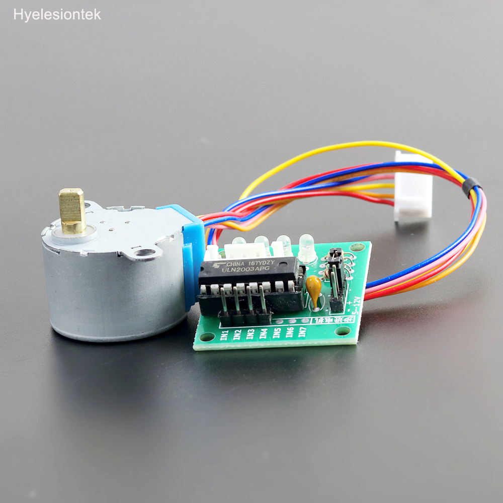 Stepper Motor For Arduino 28byj-48 Gear DC 5V 4-Phase 5-Wire Geared Stepper Motor + ULN2003A Driver Board Set Controlador Module dc 5v 28ybj 48 stepper motor for arduino works with official arduino boards 2 pcs