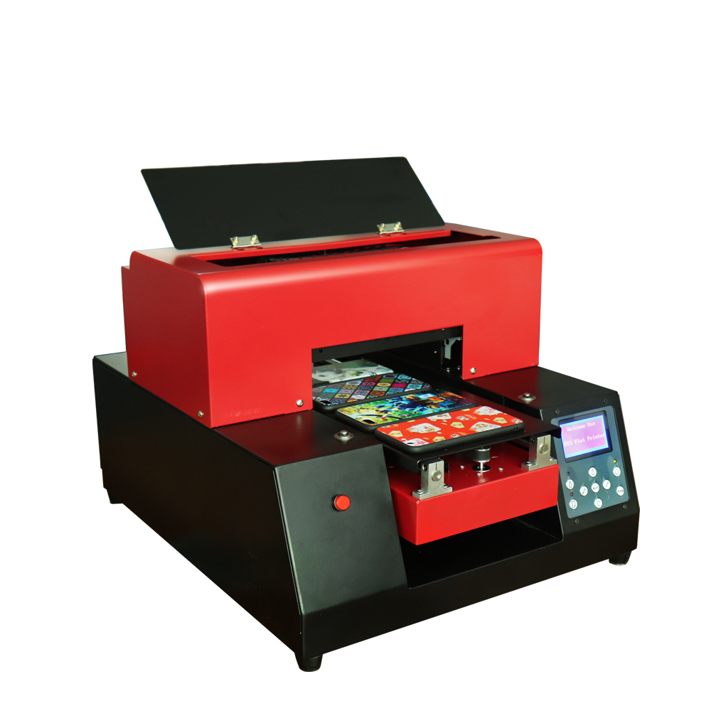 Glass Metal UV Printer A4 size UV Printer with smart sensor LED UV Flatbed Printer for Phone Case,leather with RIP software купить недорого в Москве