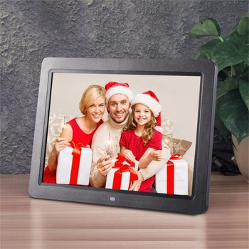 12″ Wide Screen HD LED Digital Photo Frame 1280 * 800 Electronic Picture Frame MP3 MP4 Player Clock with stereo speakers