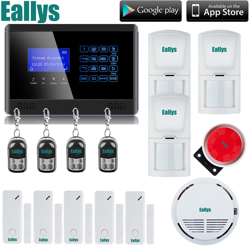 G2BX Intercom Wireless GSM SMS Securtiy Alarm System Touch LCD Sensors Built-in Speaker Without Antenna+Smoke sensor 16 ports 3g sms modem bulk sms sending 3g modem pool sim5360 new module bulk sms sending device