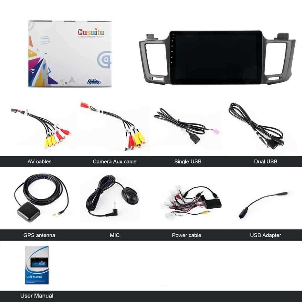 Car Radio GPS Android 9 0 1 Din For Toyota RAV4 2017 2015 2016 Radio 4-core  Multimedia Support DAB DVR OBD