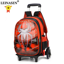 Suitcase Children Stationery-Bag Travel-Luggage Cartoon Backpack 3D Boy Anime 20-35L