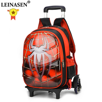 3D Anime travel luggage 20-35L students school bag Climb stairs suitcase Children cartoon backpack boy Stationery bag 17 inch high quality baymax cartoon kids travel boy students big hero 6 tourism luggage child suitcase boy anime trolley case