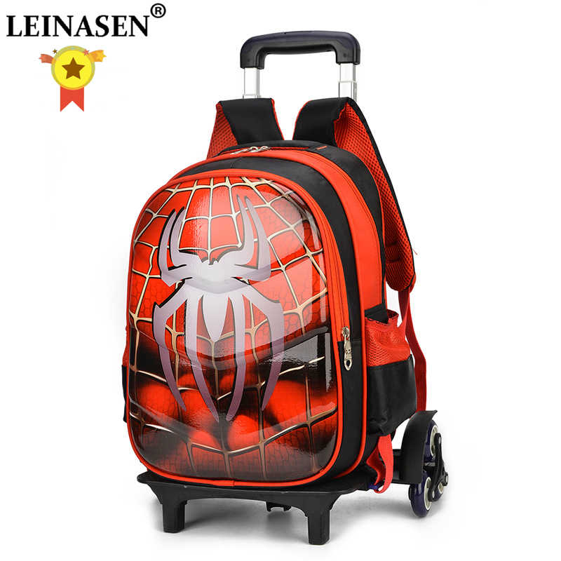 3D Anime travel luggage 20-35L students school bag Climb stairs suitcase Children cartoon backpack boy Stationery bag