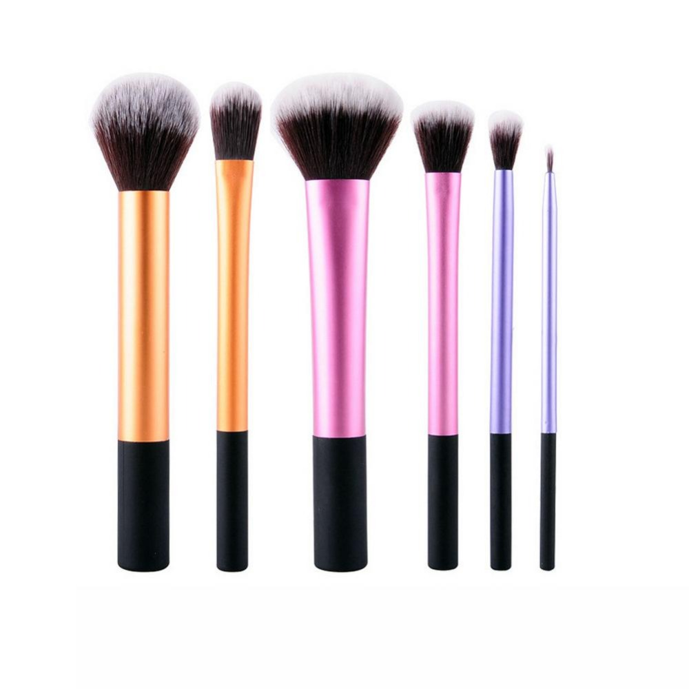 6Pcs Liquid Foundation Eye Shadow Makeup Brushes Eyeliner Powder Blush Brush Tools Soft Professional Cosmetic Brushes Set choudory 2017 runway denim blue over the knee boots sexy open toe high heel boots woman thigh high boots thin heels jeans boots