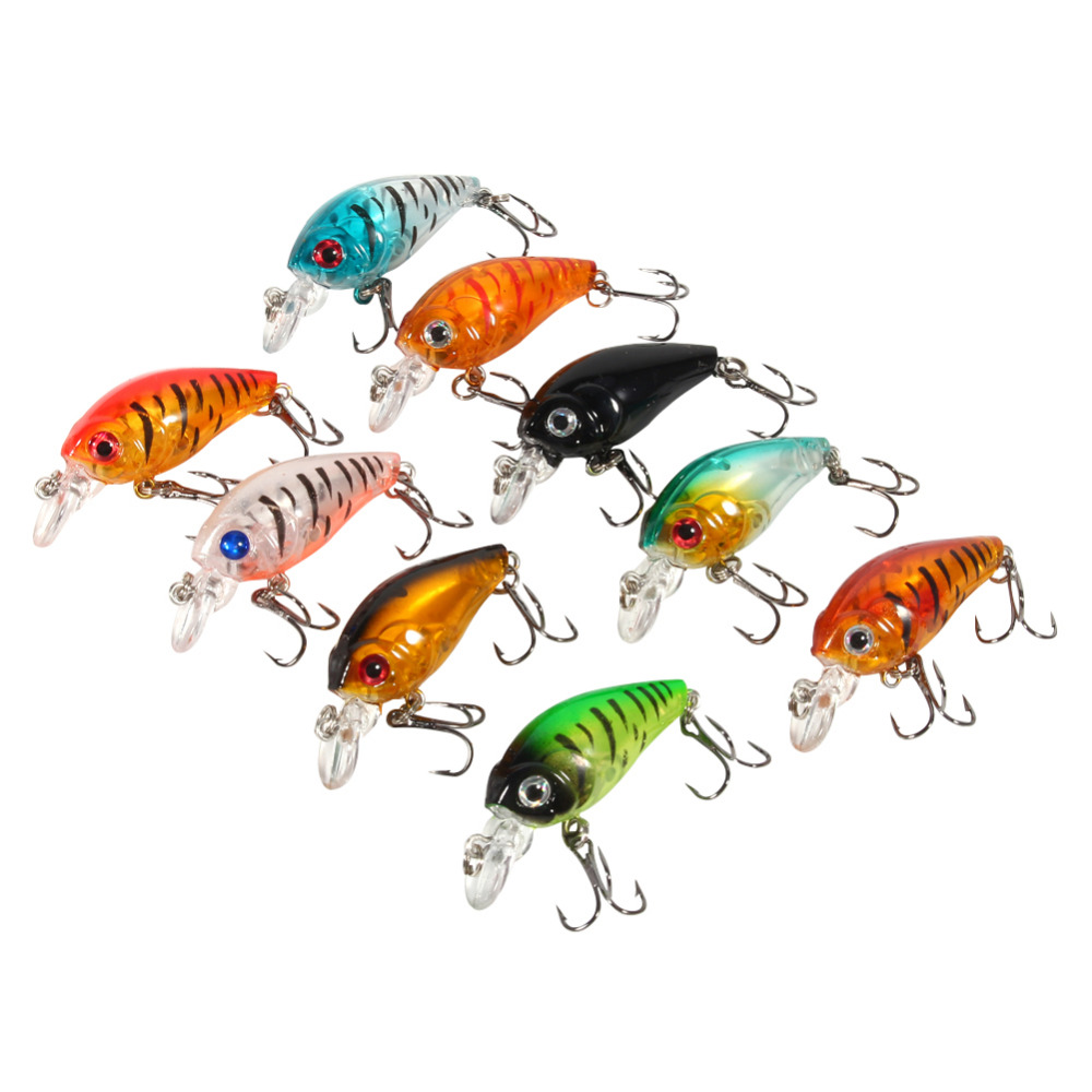 9pcs Plastic Set of Fishing Lures Bass China CrankBait Hard Crank Bait Deep Sea Fishing Trout Tackle Accessories 4.5cm/4g New 1pcs lifelike 8 5g 9 5cm minow wobblers hard fishing tackle swim bait crank bait bass fishing lures 6 colors fishing tackle