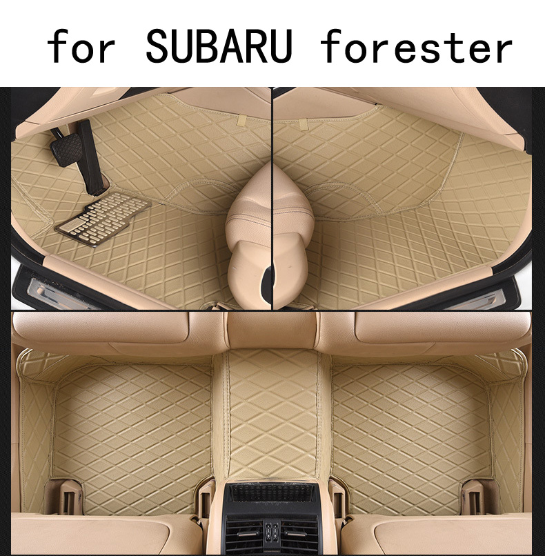 for SUBARU Forester left drive firm pu leather full Car floor mats black brown Non-slip custom made waterproof car floor Carpets subaru traviq главный тормозной