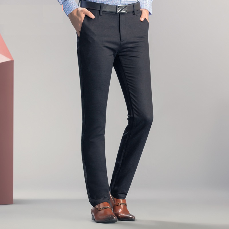 DZYS Men's Business Casual Pants Slim Elastic Pants For Men Male