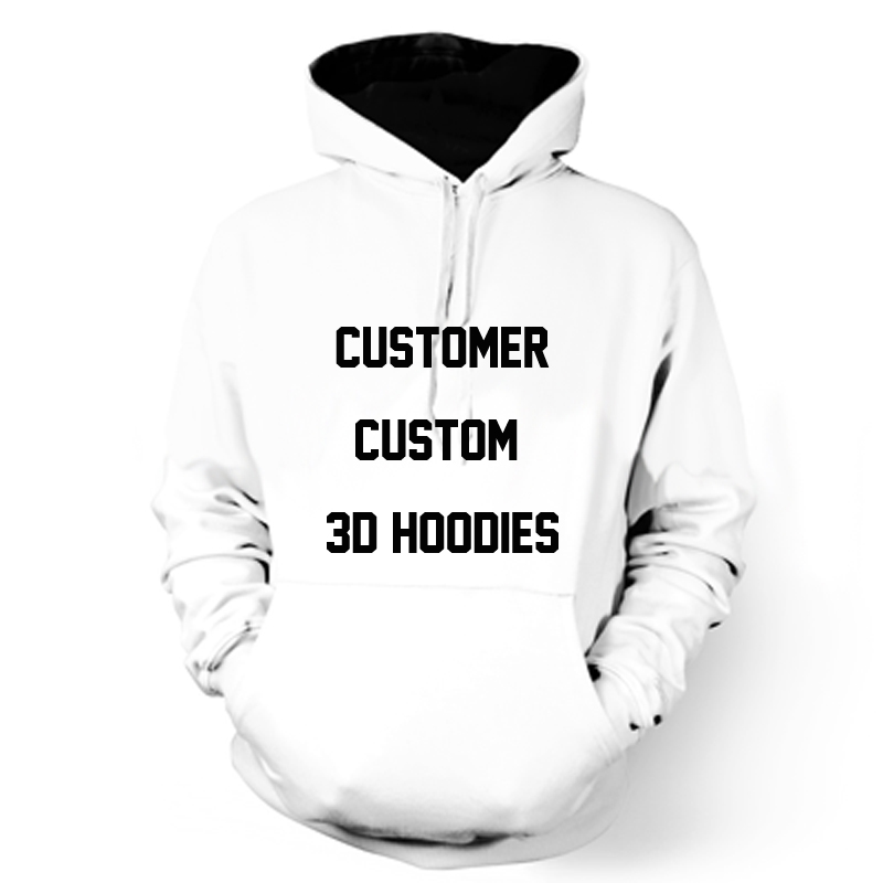 ONSEME Long Sleeve Hooded Sweatshirts Men Women Custom 3D Hoodies Customer Customize Hoodie Streetwear Clothing DropShipping