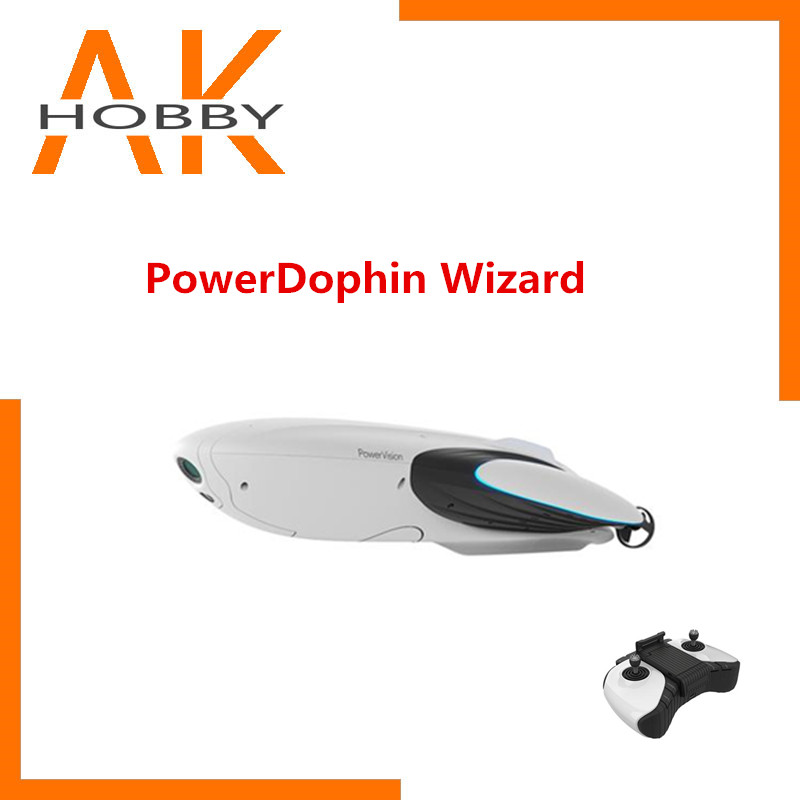 Powervision PowerDolphin Wizard underwater Fishing Boat with 4K UHD Camera 1080P Liver Streaming Real Time Transmission