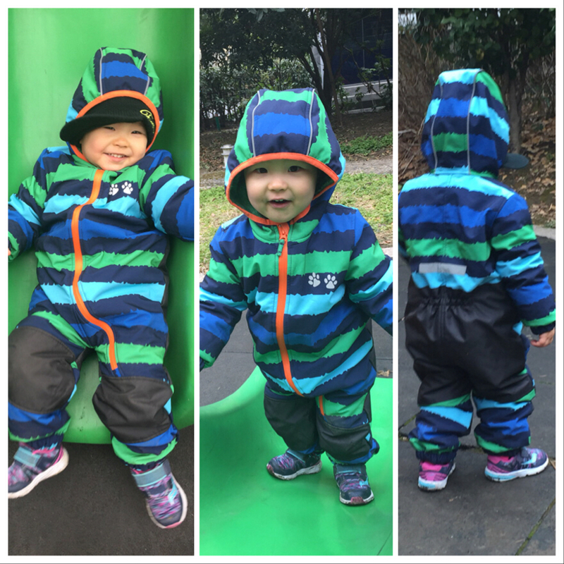 Image 2 - UmkaUmka Boy softshell romper water repellent and windproof to mid season hooded zipper baby clothes best sell-in Rompers from Mother & Kids
