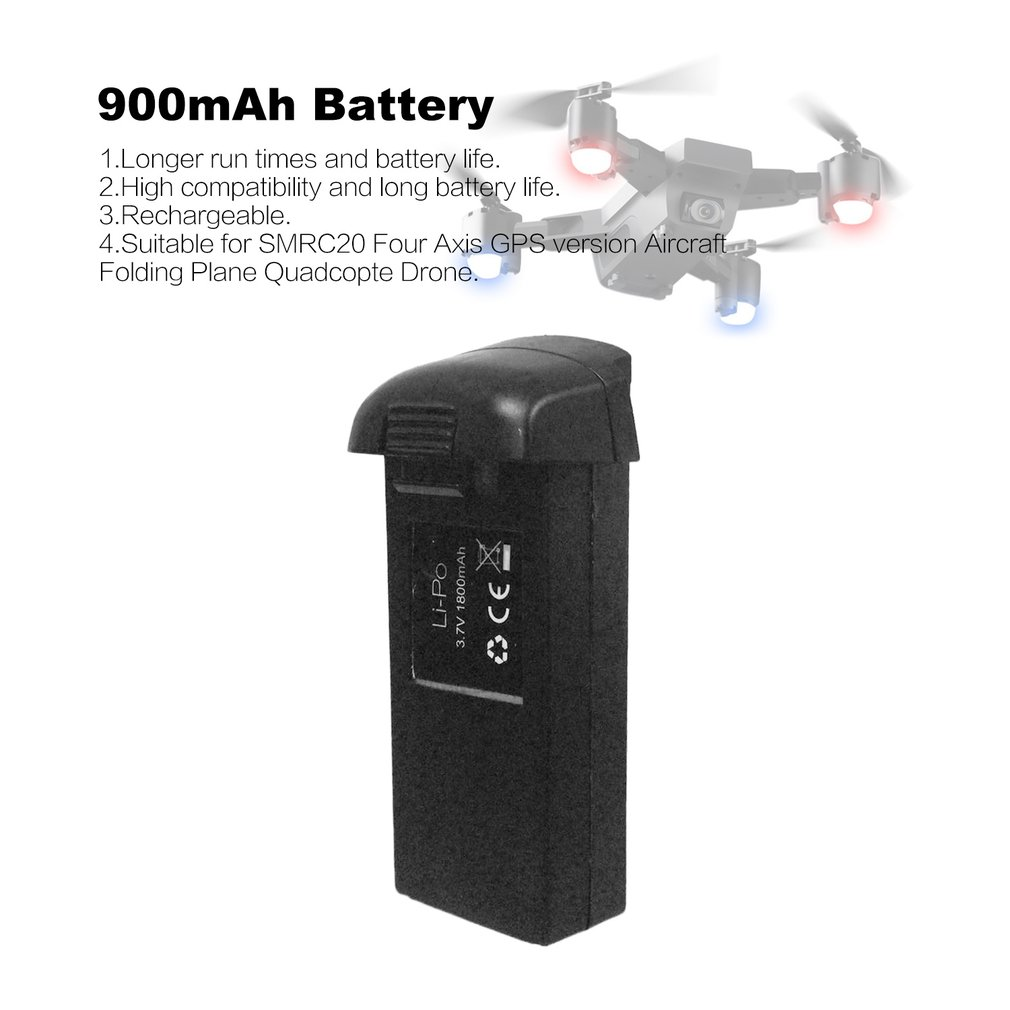 for SMRC S20 RC Drone 7 4V 900mAh 2S 1P Lipo Battery Rechargeable Quadcopter Fast Charge Batteries Parts Accessories in Parts Accessories from Toys Hobbies