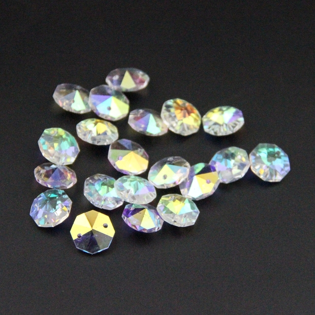 Aliexpress.com : Buy 1000pcs/lot 14mm In 2 Holes Crystal Octagon ...