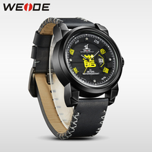 WEIDE brand Watch Men Waterproof High Quality Leather Strap Analog luxury Sport Quartz automatic Watch electronic wrist watches все цены