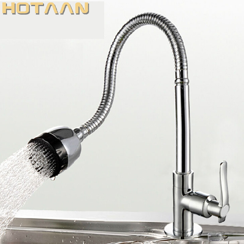 US $21.71 10% OFF|Vertical Farm Sink Single Lever Kitchen Faucet Basin  Faucet Kitchen Faucet Taps for Kitchen Sink Water Tap Water Swivel Mixer-in  ...