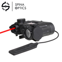 SPINA Airsoft Tactical Flashlight DBAL D2 Battery Case IR Laser Red Laser LED Torch DBAL EMKII Weapon Light EX328 20mm DQ Mount