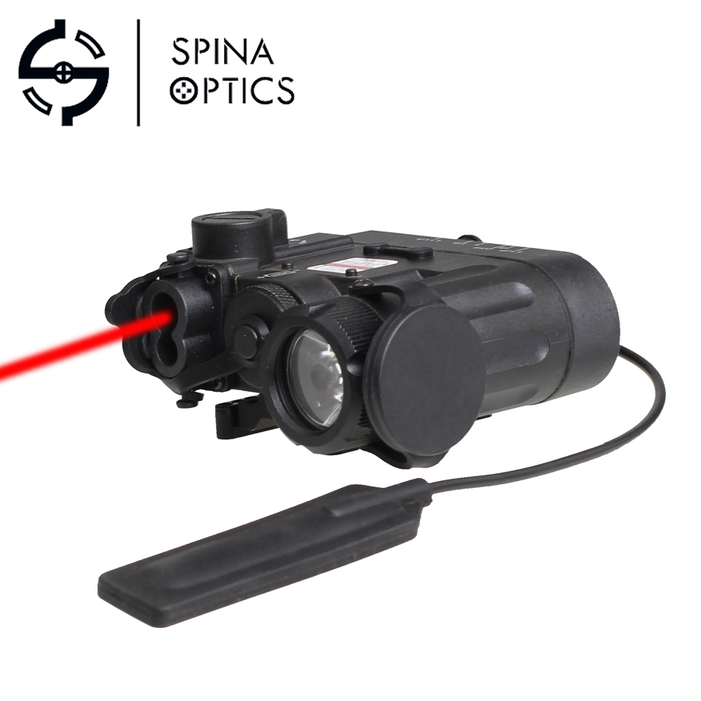 SPINA OPTICS Airsoft Flashlight IR Laser Red Laser LED DBAL-EMKII Multifunction Tactical IR DBAL-D2 Battery Case EX328 fma tactical an peq 15 battery box laser red dot laser with white led flashlight and ir lens military airsoft hunting device