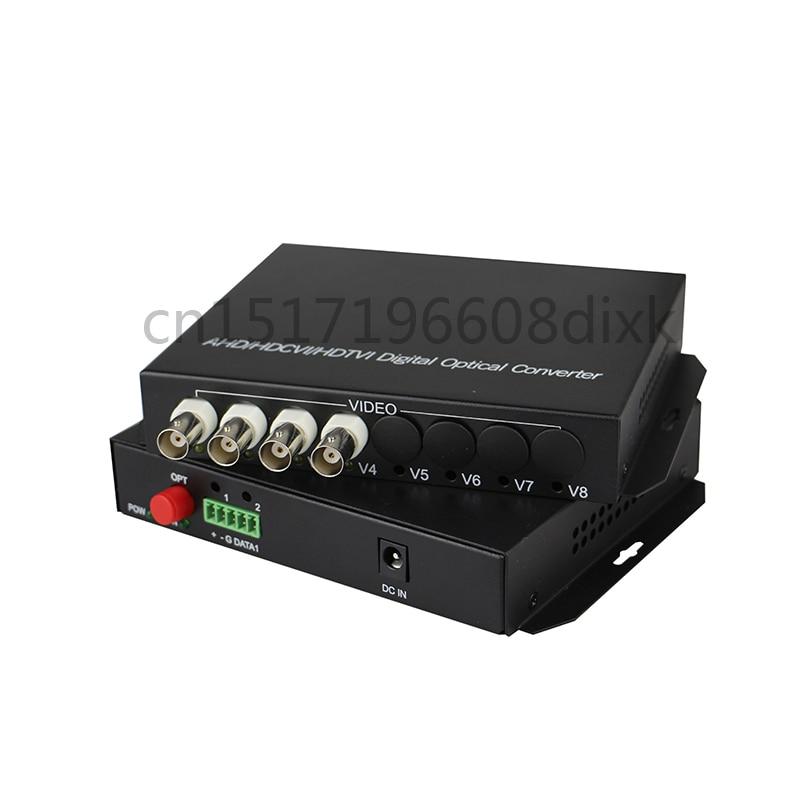 bilder für HD video AHD CVI TVI lwl-konverter, 4-KANAL 720 P 960 P video fiber optic transmitter, single-single fiber 20 KM