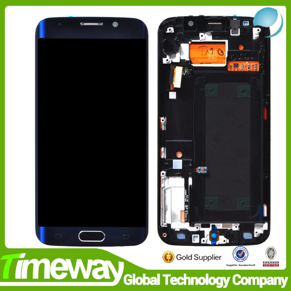 100% Original For Samsung S6 Edge G925 G925S G925F LCD Screen Display With Touch Digitizer Assembly with frame Free DHL Shipping factory price lcd screen for samsung galaxy s6 edge lcd display touch screen digitizer g925f g925s g925p g925a free shipping