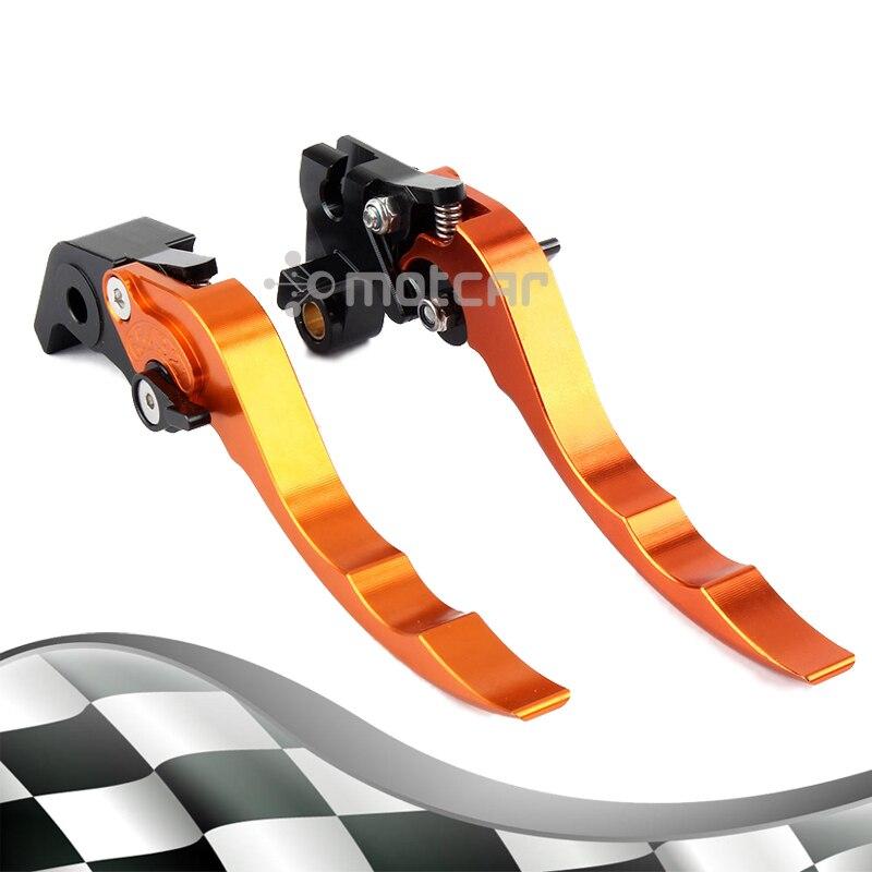 Orange Aluminum Hardware Left Aad Right CNC Short Levers Clutch Brake Lever For Yamaha Super Tenere 2012 2014 2013 XT1200ZE billet alu folding adjustable brake clutch levers for motoguzzi griso 850 breva 1100 norge 1200 06 2013 07 08 1200 sport stelvio