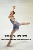 Hot Sales Ice Figure Skating Dresses Fashion New Brand Competition Child Figure Skating Dress Crystal DR3695