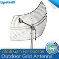 DCS GSM 1800Mhz Outdoor Grid Antenna 20dBi Gain External Antenna For Mobile Cell Phone Signal Booster Repeater Amplifier