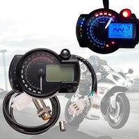 15000rpm 7 Color Display Motorcycle Digital Speedometer LCD Gauge Speedometer Tachometer Odometer Gauge Instrument Adjustable