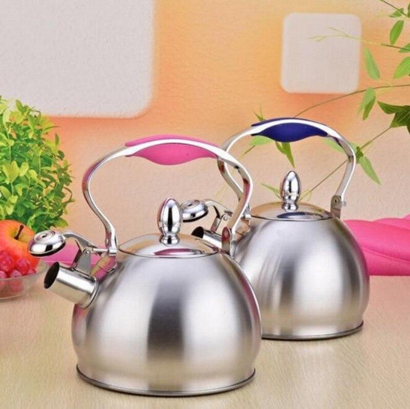 304 acier inoxydable épaississement maison sifflet eau four bouilloire mini gaz induction cuisinière 2.5L