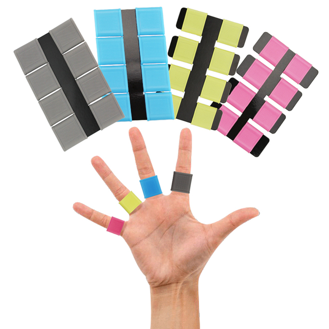 Free Shipping Golf finger toe Silicon Support Sleeve Protector Grip grey 8pcs/set Multi color for Men Women