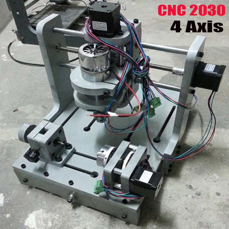 ship DHL Milling Machine 4Axis CNC 2030 DIY CNC Wood Carving Mini Engraving Machine PVC Mill Engraver Support MACH3 System  цены