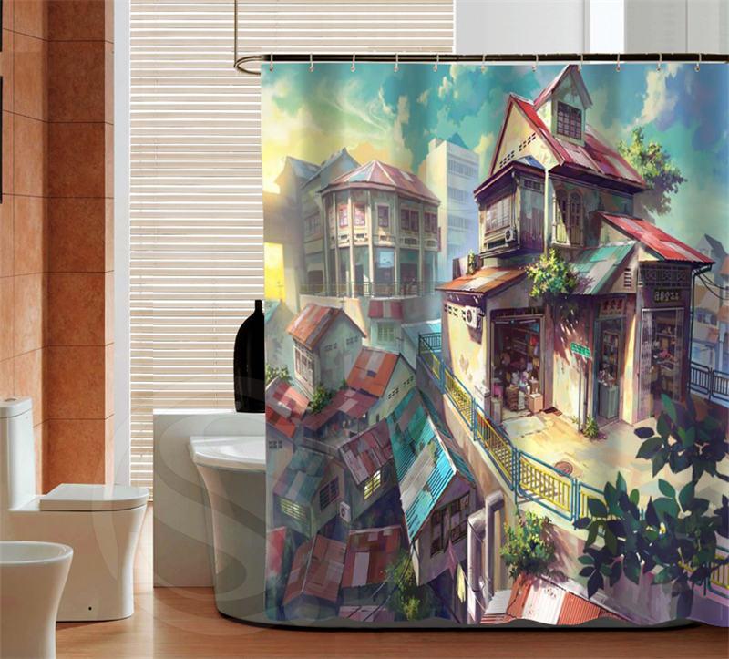 New Clical Anese Anime Bath Curtains Custom Shower Curtain Bathroom Best Decor Fabric Screens In From Home Garden On