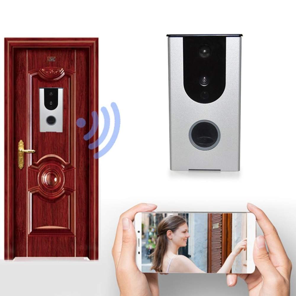 Wifi Video Doorbell HD Camera PIR Motion Detection Alarm Night Vision Wireless Home Door Intercom Support TF Card kinco wifi remote control night vision video doorbell hd waterproof dtmf motion detection alarm smart home for smartphone