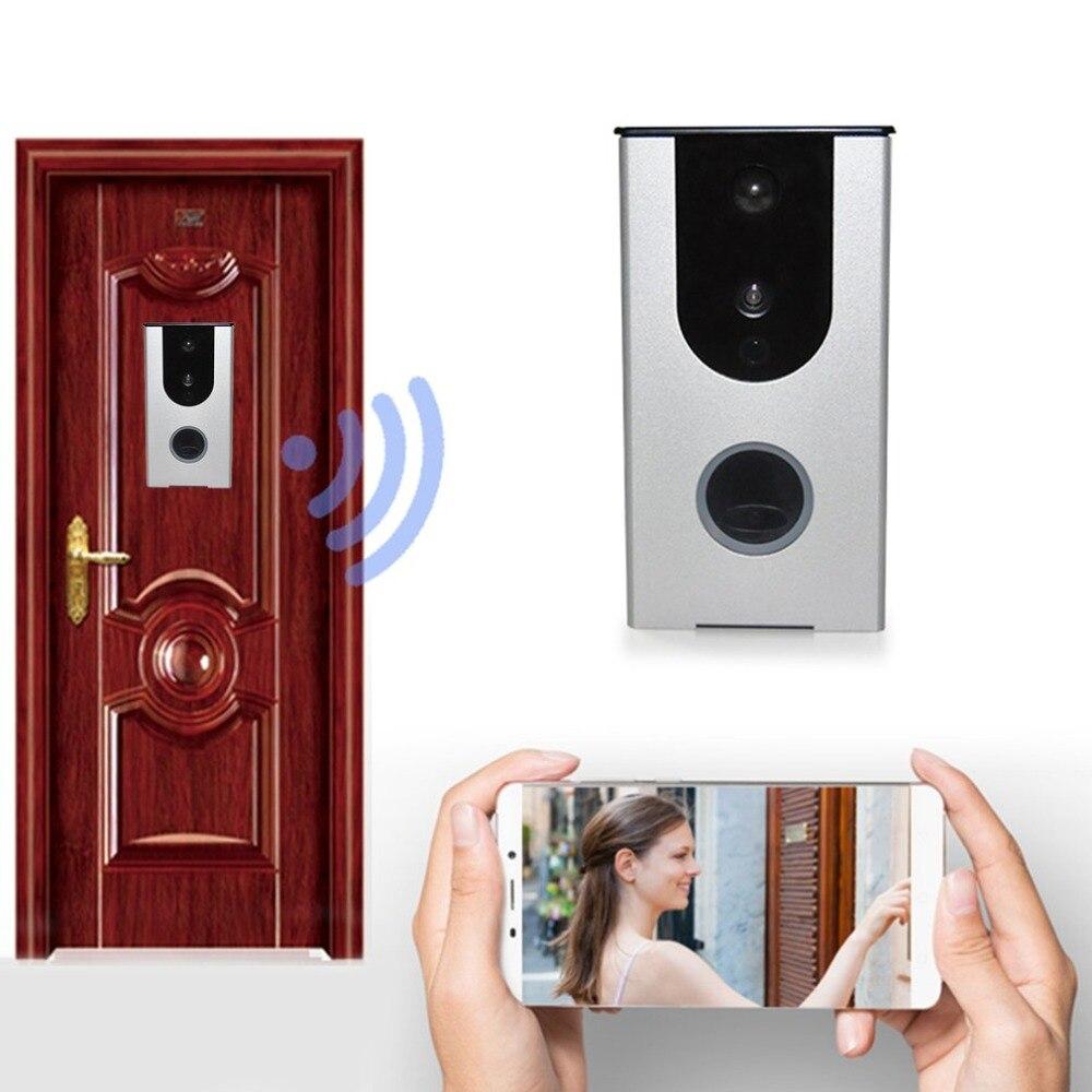 Wifi Video Doorbell HD Camera PIR Motion Detection Alarm Night Vision Wireless Home Door Intercom Support TF Card
