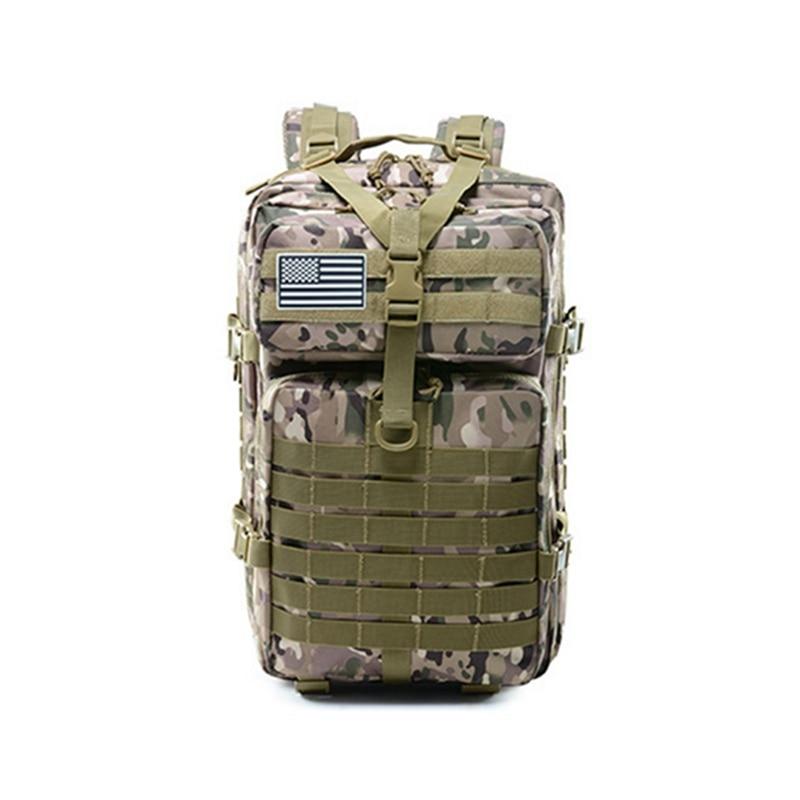 Chasse grande capacité 45L armée tactique sacs à dos militaire assaut sacs Molle Pack pour Trekking Camping armée vert sac