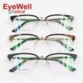 2016 New arrival metade aro da armação óptica de metal mais popular liga de óculos para homens e mulheres óculos de Miopia ou Presbiopia 1626