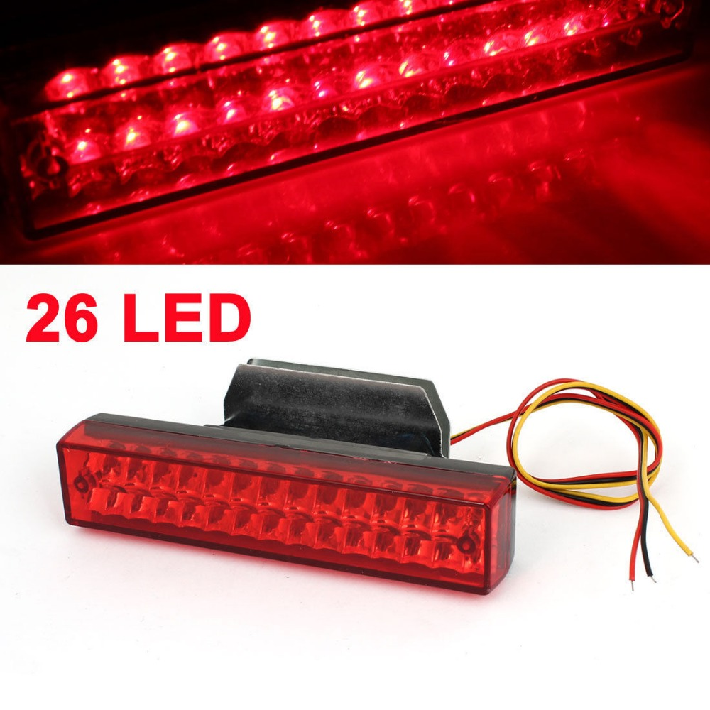 CYAN SOIL BAY Driving Safety 26 LED Brake Light Parking Lamp Bar Red DC 12V for Auto Car ракетка для настольного тенниса torres hobby tt0003
