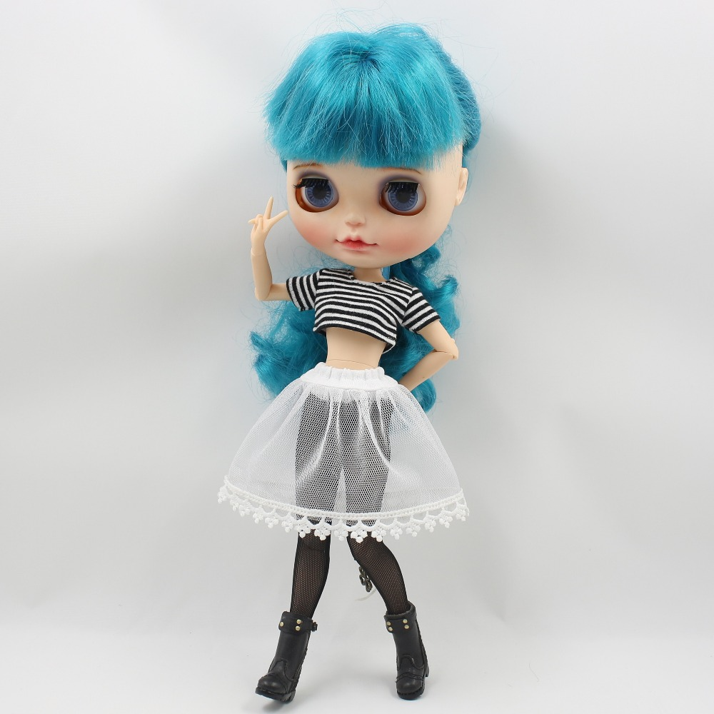 Neo Blythe Doll Crop Shirt with Leggings Underwear & Lace Skirt 4