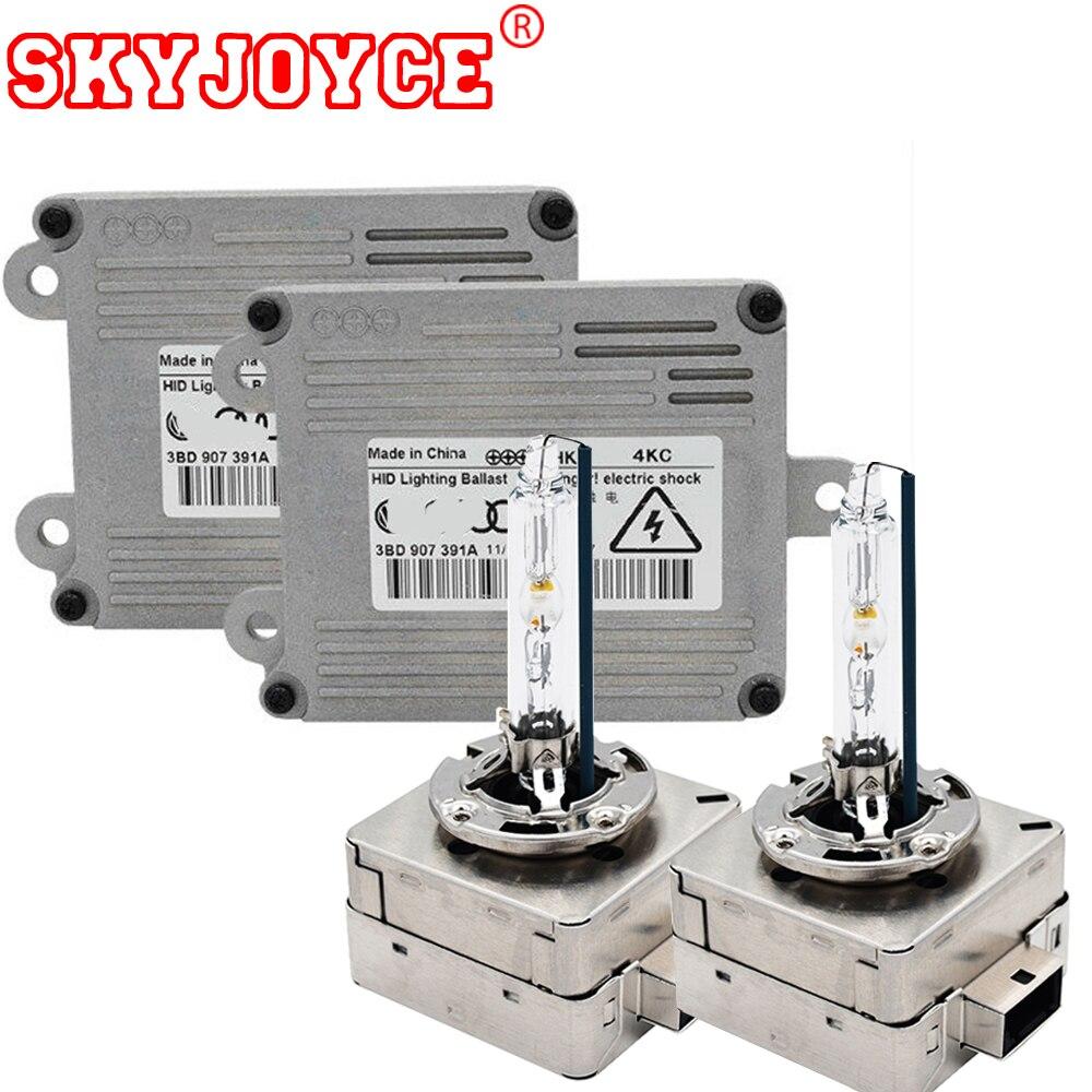 2020 nova skyjoyce 35 w hid kit 4300 k 55 d1s luz 5000 k d3s 6000 k d1s hid base de metal lâmpada 8000 k d1s d3s original farol do carro