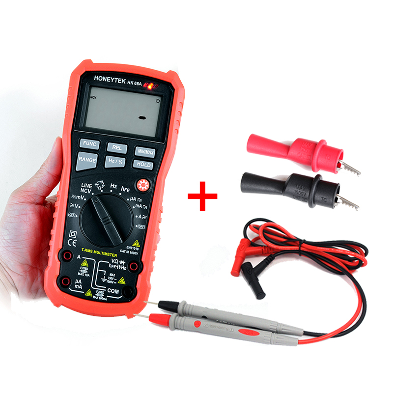 LCD Backlight 4000 counts Digital Multimeter with True RMS AC/DC Voltage Resistance Capacitance Frequency Tester Multimeter uyigao ua78d digital multimeter resistance capacitance inductance lcr multi meter tester with backlight