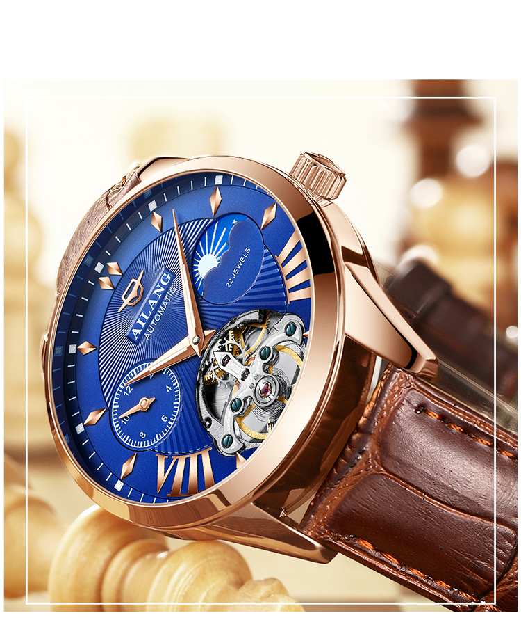 HTB1DytJd8Cw3KVjSZR0q6zcUpXab AILANG Quality Tourbillon Men's Watch Men Moon Phase Automatic Swiss Diesel Watches Mechanical Transparent Steampunk Clock