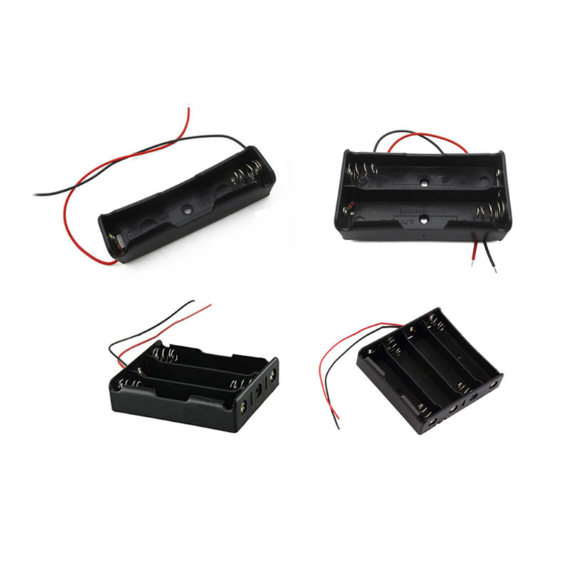 1Pc 4/3/2/1x 18650 Durable Plastic Battery Holder 4 Size Portable 18650 Battery Box Case Wire Supports 3.7V Battery Wholesale