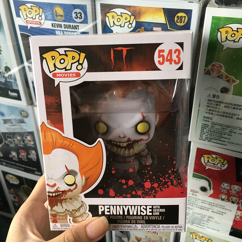 Exclusive FUNKO POP Official Horror: IT Pennywise With Severed Arm Vinyl Action Figure Collectible Model Toy In Stock official funko pop marvel x men logan wolverine vinyl action figure collectible model toy with original box
