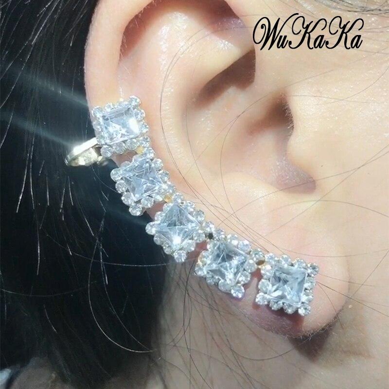 Jewelry & Accessories Clip Earrings Crystal Heart U Shape Clip Cuff Earring No Ear Hole For Women Korean Ladies Fashion Girl Female Ear Accessories Birthday Gift