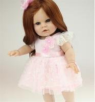 Free Shipping New Style 40 Cm 16 Inch Silicone Reborn Dolls American Girl Dolls Lifelike Blue