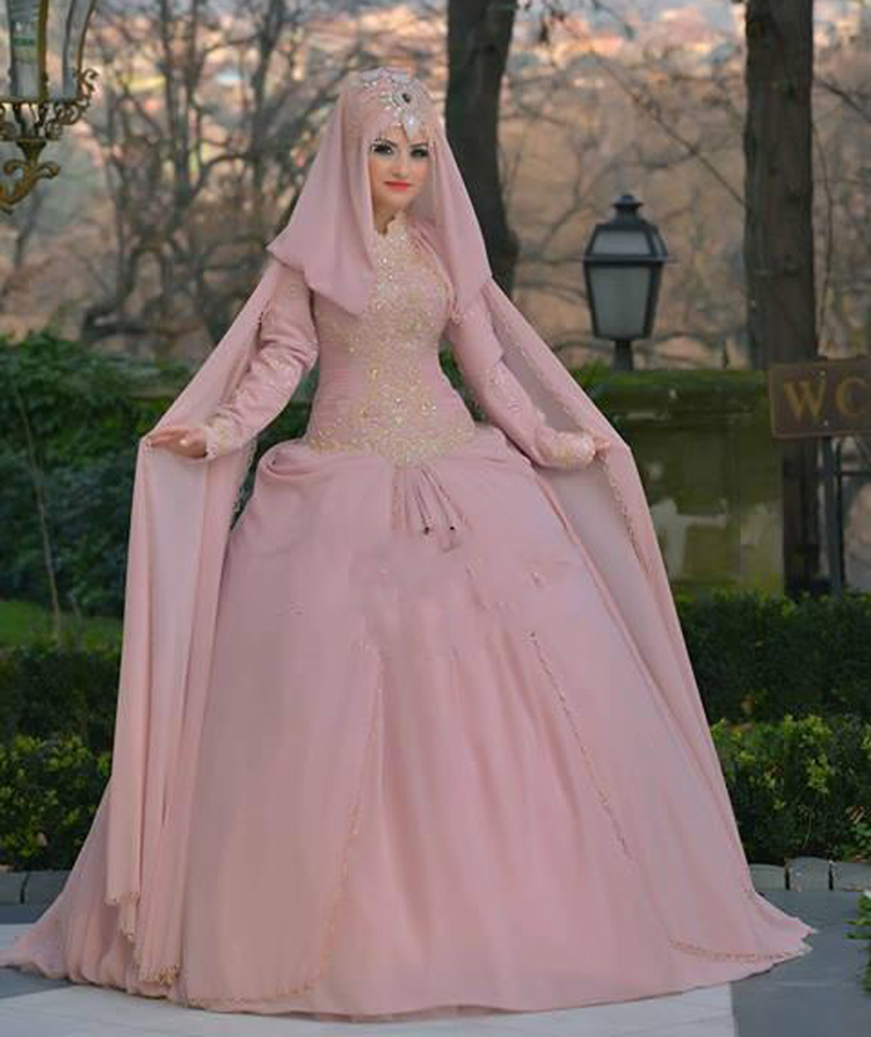 Popular long sleeve muslim wedding dress buy cheap long for Cheap muslim wedding dresses