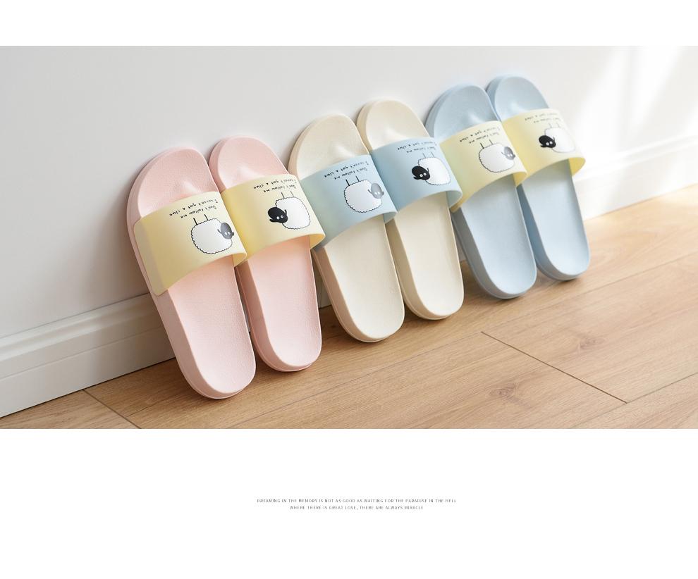 ASIFN Women Slippers EVA Men Slides Couple Cute Sheep Indoor Summer Loves Shoes Zapatos Mujer Flip Flops 32