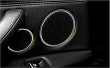 Car 6pcs Speaker Audio Ring Decoration Cover Trim For BMW X5 F15 2014 2015